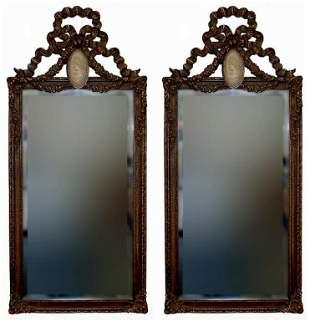 Bombay cameo beveled mirror pair