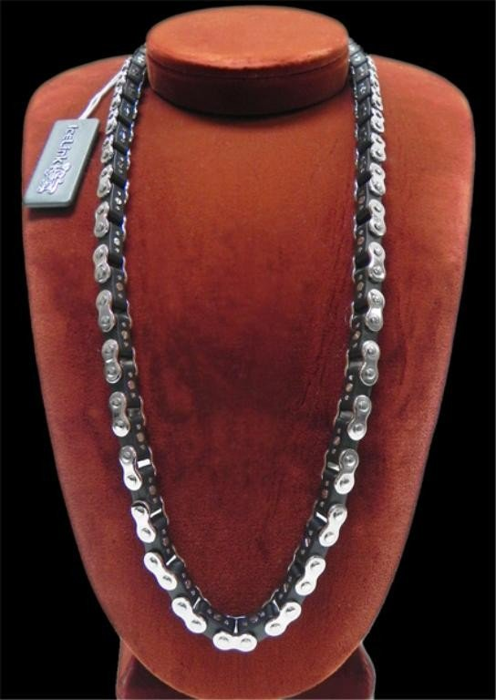 13: Black Ice Link bicycle chain necklace
