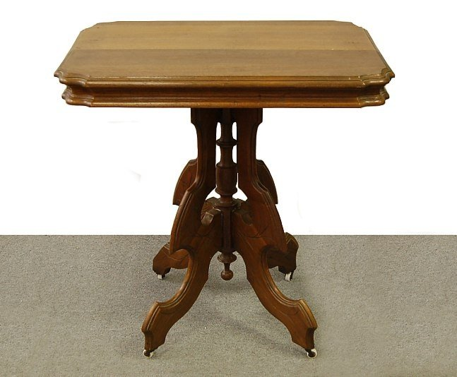 18A: Eastlake table with porcelain rollers