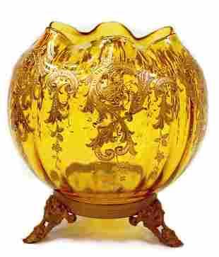 Victorian Moser enameled bowl