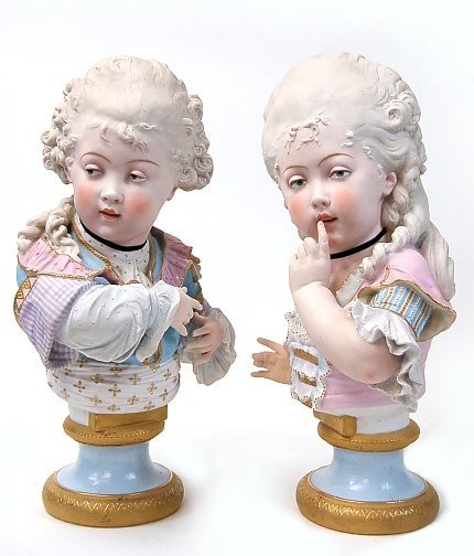 "111: Continental bisque 16.5"" figurines"