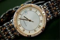 111A Bucherer Jubile 18K gold stainless watch