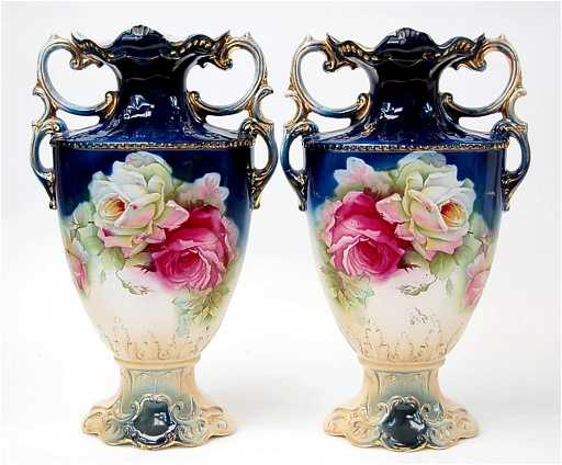 7 Pair Of English Mantle Vases