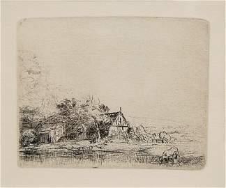 91: Rembrandt original etching