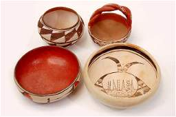 163: 4 Native American pottery pieces