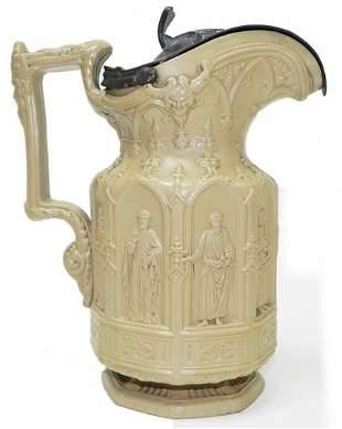 Charles Meigit 1842 stoneware pitcher