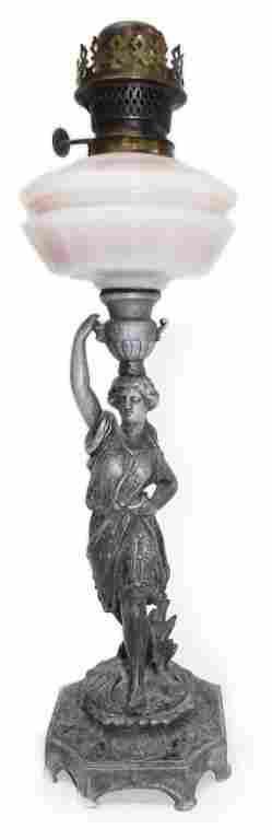 """Beautiful figural 20"""" kerosene Lamp"""