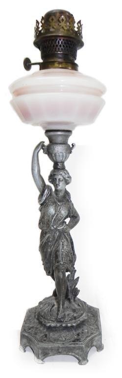 """10: Beautiful figural 20"""" kerosene Lamp"""