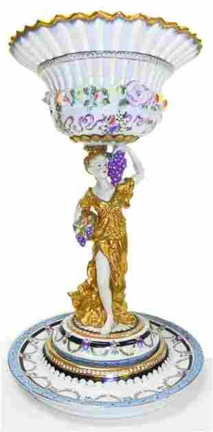 """German porcelain 18"""" centerpiece bowl"""