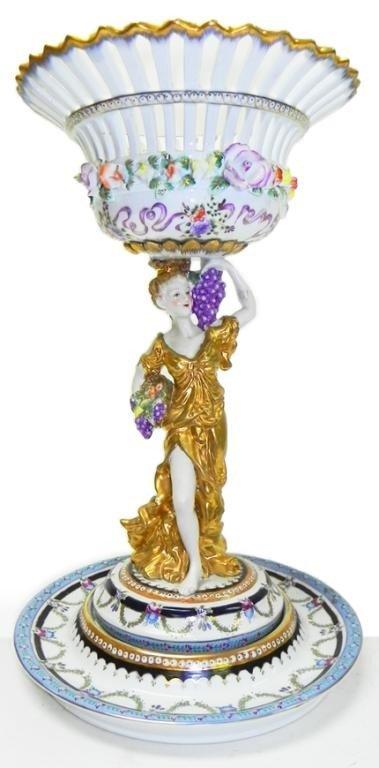 """12: German porcelain 18"""" centerpiece bowl"""