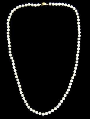 """Nice 27"""" string of cultured pearls"""