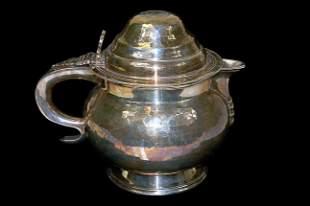 Hammered Georgian style teapot