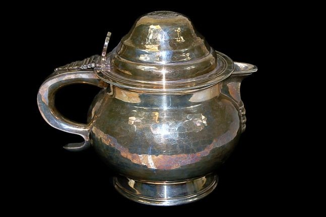 16: Hammered Georgian style teapot