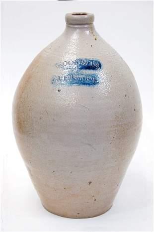 19th cen. Goodwin & Webster stoneware jug