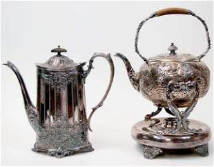 Victorian repousse coffee & teapot