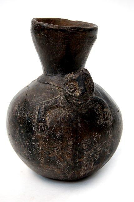 34: Pre-Columbian Inca monkey vessel