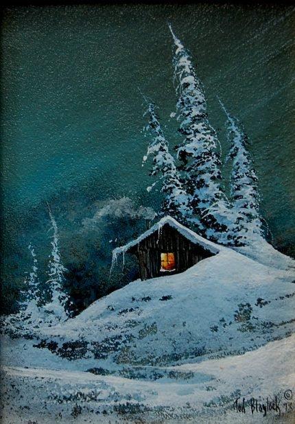36: Ted Blaylock (né 1946) original oil painting