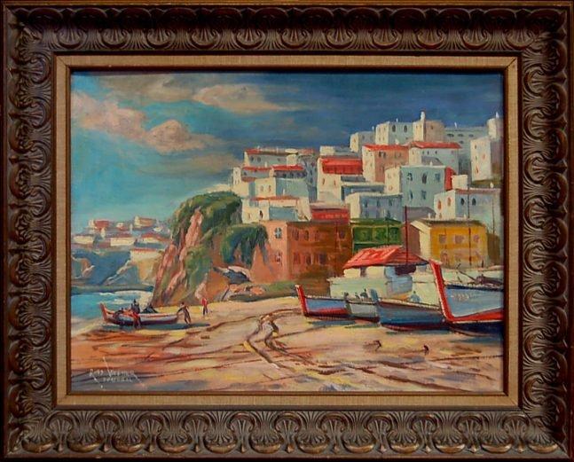 39: Russ Webster (1904-1984) Mass., oil painting