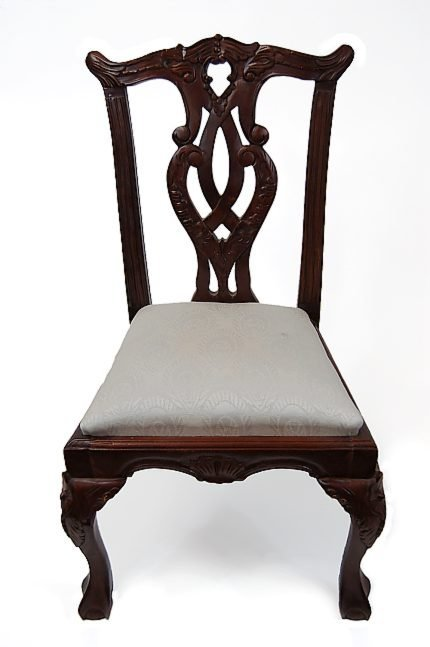 """41: Chippendale repro child's chair measuring 20"""" tall"""