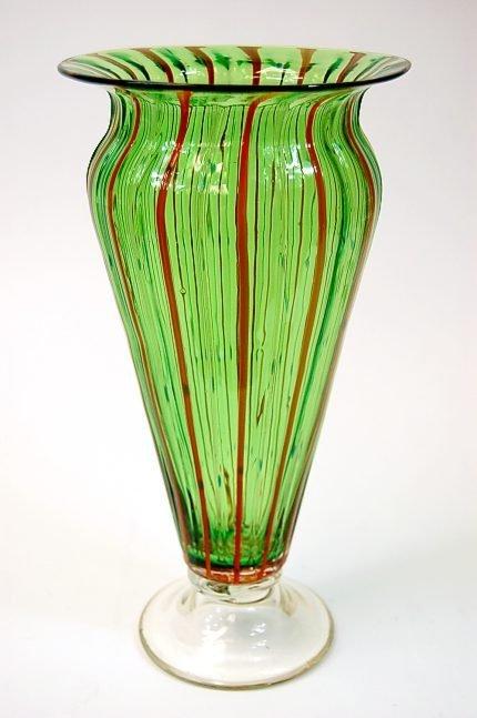 """31: Bohemia 12"""" Art Nouveau Art Glass vase in excellent"""