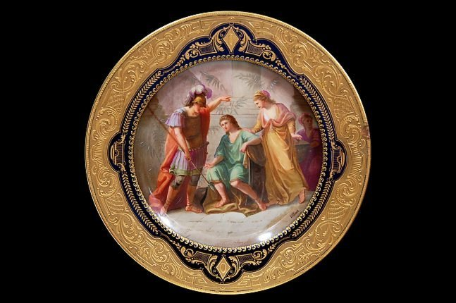"57: Vienna porcelain 9.5"" cabinet plate depicting Ulyss"