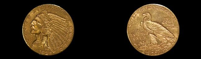 27: 1925-D U. S. 2 1/2 dollar gold coin