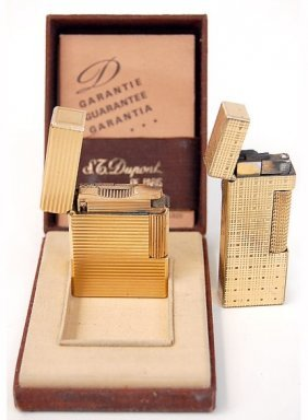 6: Pair of vintage lighters St. Dupont and Dunhill