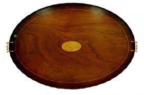 """8: Antique English 34'"""" tea tray with Nautalis"""
