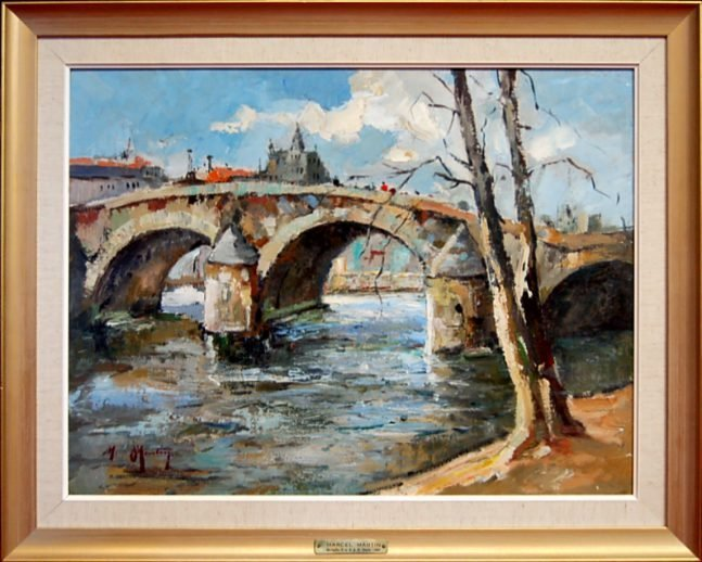 123: Marcel Martin original oil painting on board, 1937