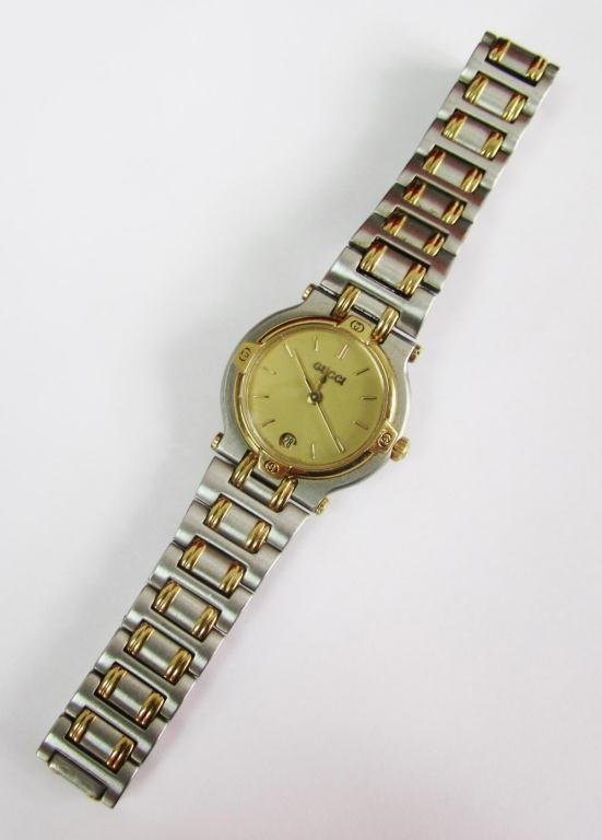3: Gucci lady's watch Model 9000L 18k finish
