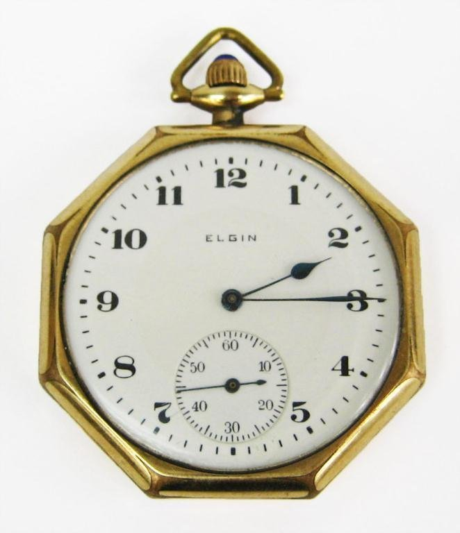 9: 1917 men's Elgin pocket watch