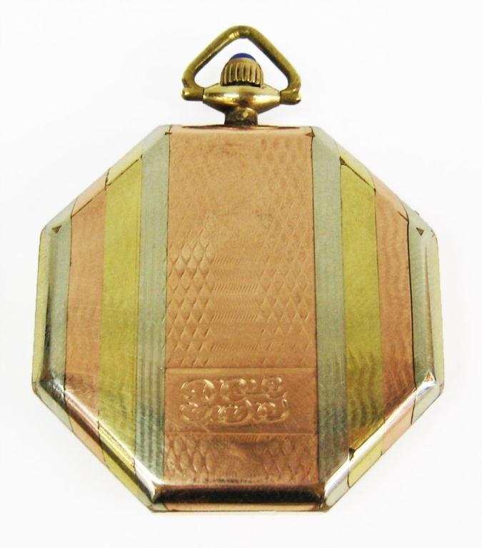 9: 1917 men's Elgin pocket watch - 2