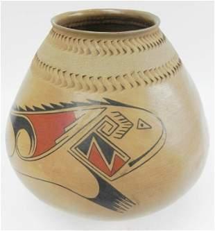 Casa Grande Mata Ortiz pottery Olla signed
