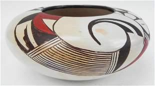 Early Hopi pottery jar signed on base circa 1940
