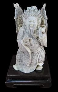 45: Ivory Carved Emperor Original Box