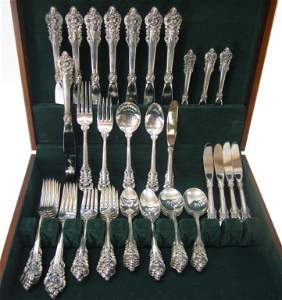 96: Wallace Grand Baroque Sterling Silver Service