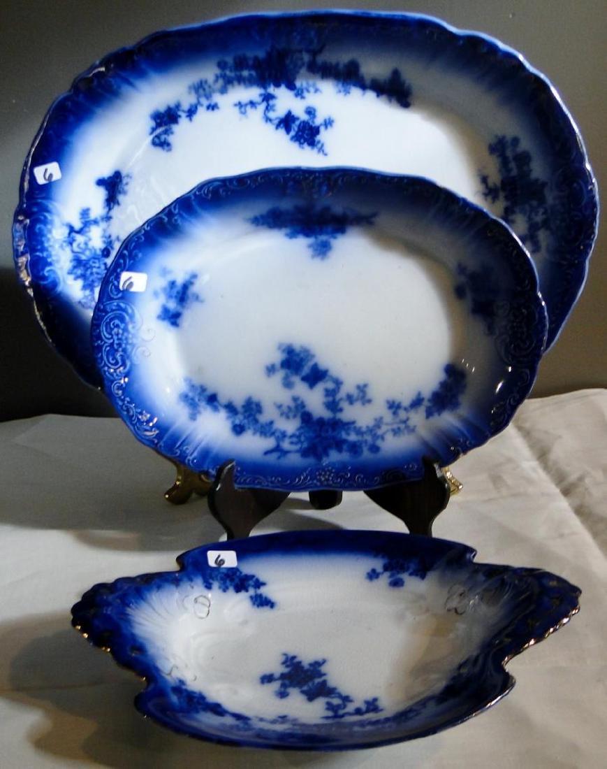 Flow Blue La Belle China Platters & Serving Dish