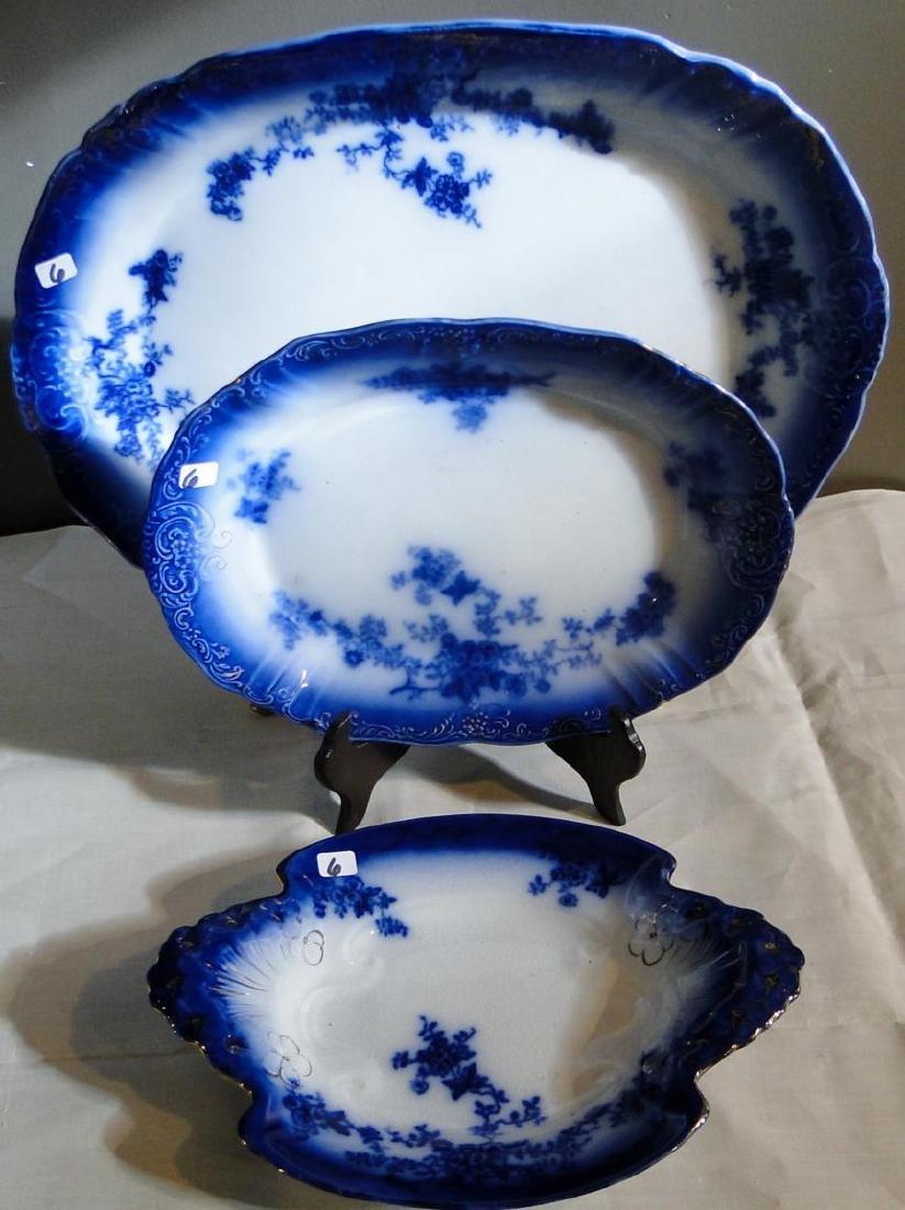 Flow Blue La Belle China Platters & Serving Dish - 2