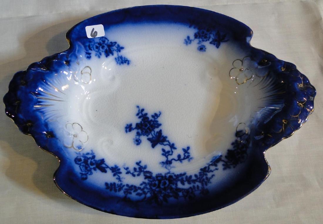 Flow Blue La Belle China Platters & Serving Dish - 3