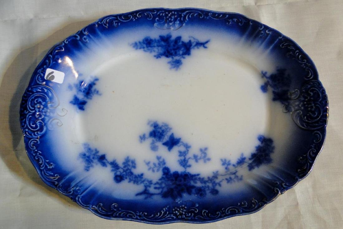 Flow Blue La Belle China Platters & Serving Dish - 4