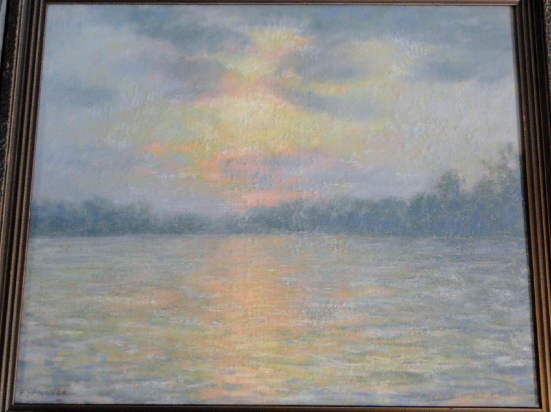 Francesco Spicuzza Pastel of Pine Lake - 2
