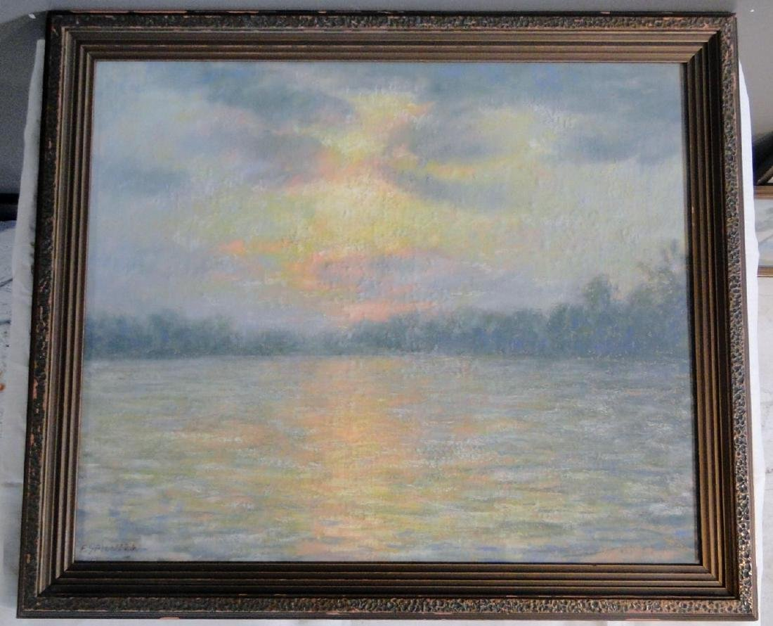 Francesco Spicuzza Pastel of Pine Lake - 4