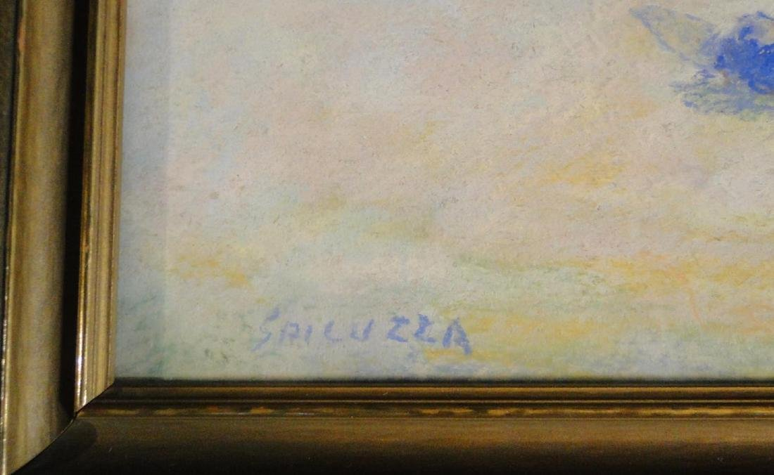 Francesco Spicuzza Pastel of a Beach Scene - 3