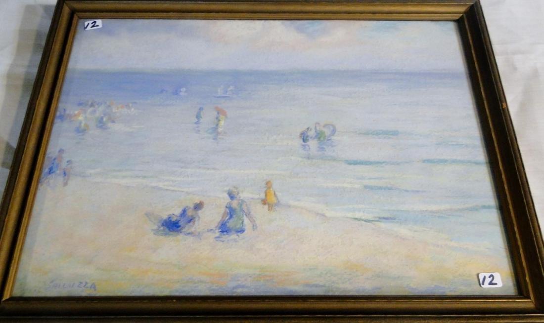 Francesco Spicuzza Pastel of a Beach Scene - 4