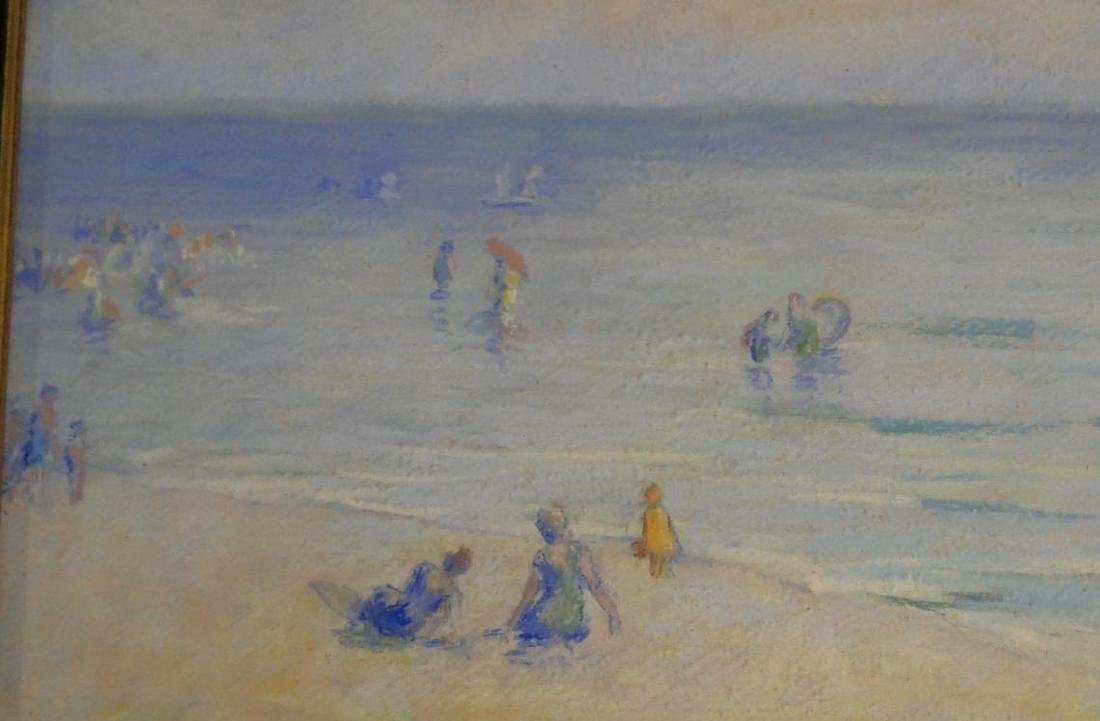 Francesco Spicuzza Pastel of a Beach Scene - 5