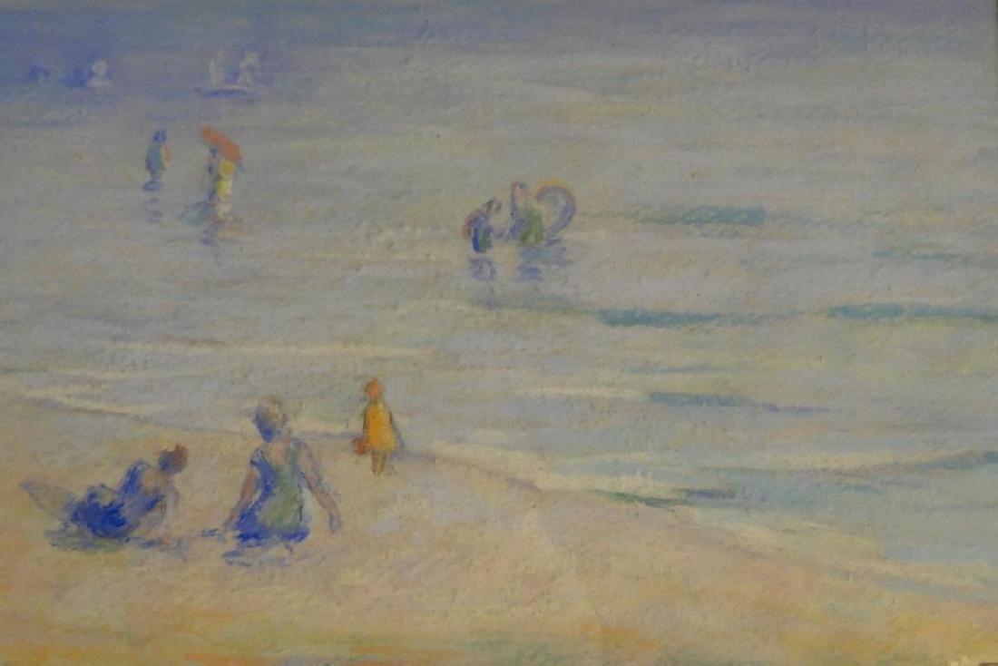 Francesco Spicuzza Pastel of a Beach Scene - 6