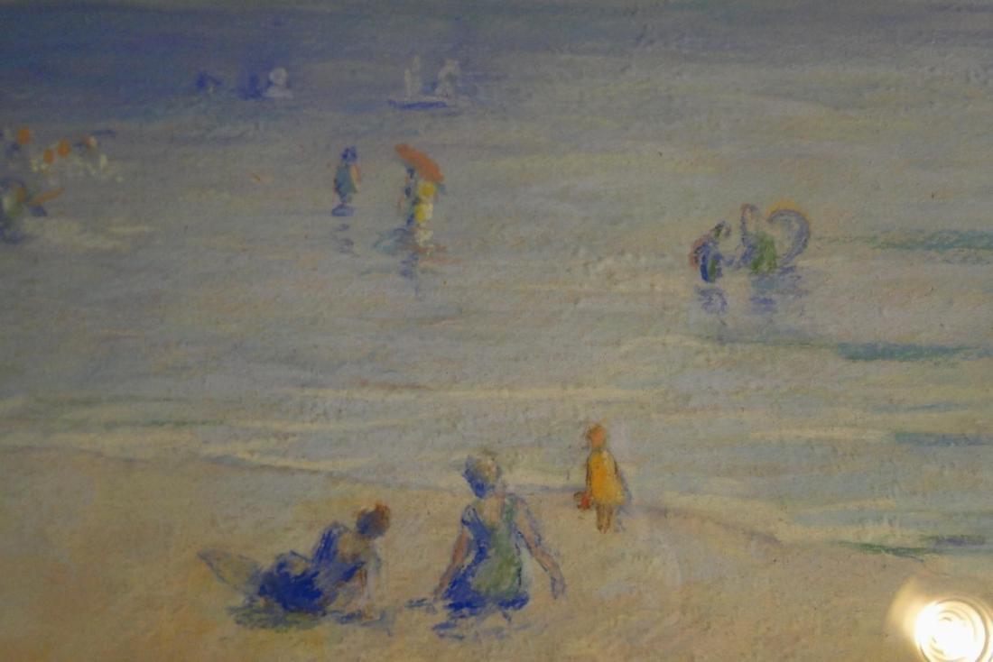 Francesco Spicuzza Pastel of a Beach Scene - 8