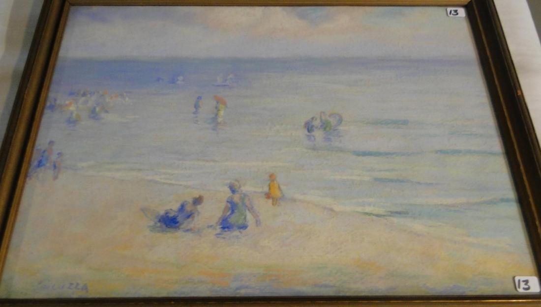 Francesco Spicuzza Pastel of a Beach Scene - 9