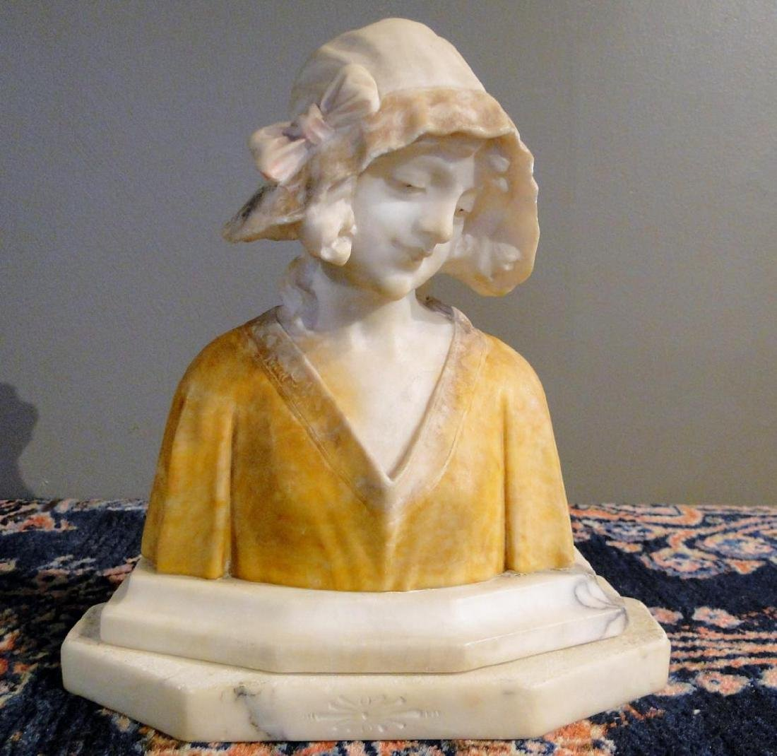 Marble Bust of Young Beauty