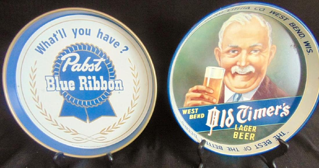 Pabst Blue Ribbon & Old Timers Beer Trays
